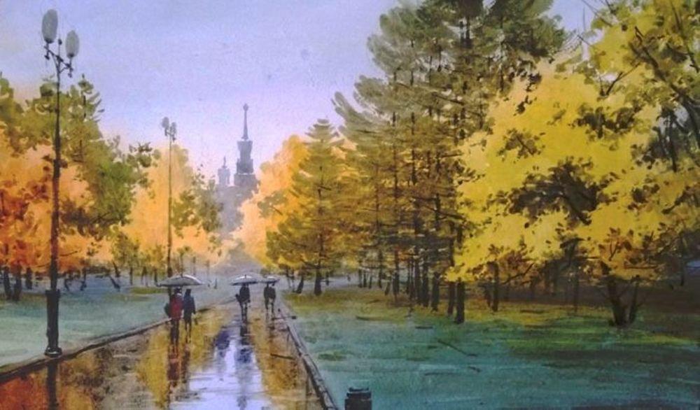 Акварельные пейзажи художника Ильи Горгоца, фото № 15