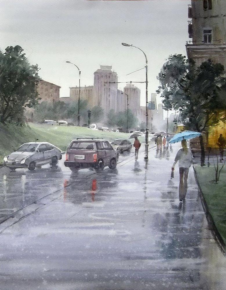 Акварельные пейзажи художника Ильи Горгоца, фото № 7