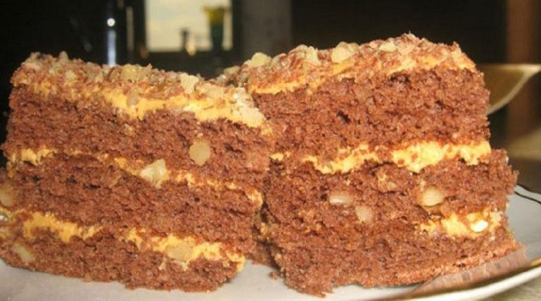 Оригинальный торт со сгущенным молоком «Золотой ключик»