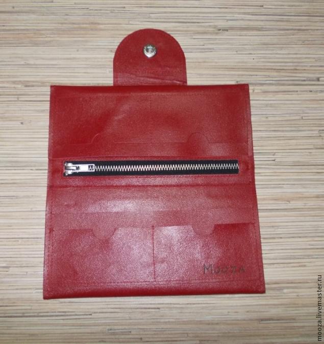 Как сделать кошелек из кожзама