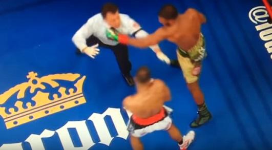 Входе титульного боя вНью-Йорке боксер Баду Джек отправил внокдаун судью