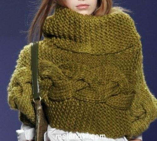 Подборка креативных вязаных шарфов