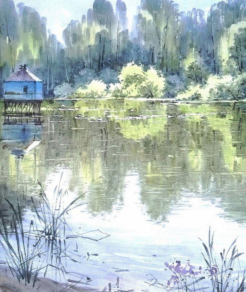Акварельные пейзажи художника Ильи Горгоца, фото № 34