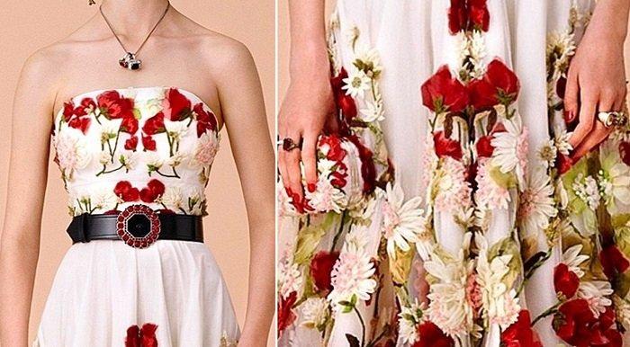 платья из сетки с вышивкой