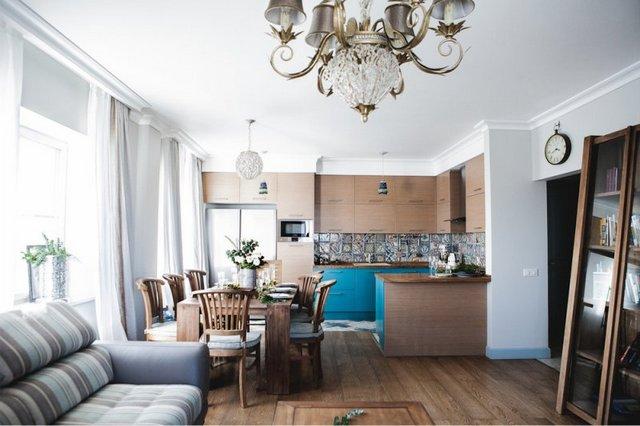 кухня в квартире студии 30 кв. м.