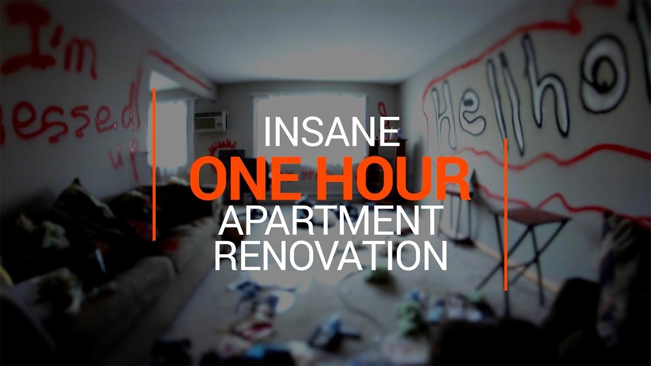 Семья сделала ремонт квартиры всего за 58 минут. Все реально