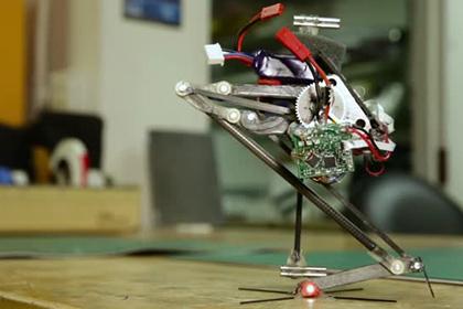 Одноногого робота-паркурщика показали в США