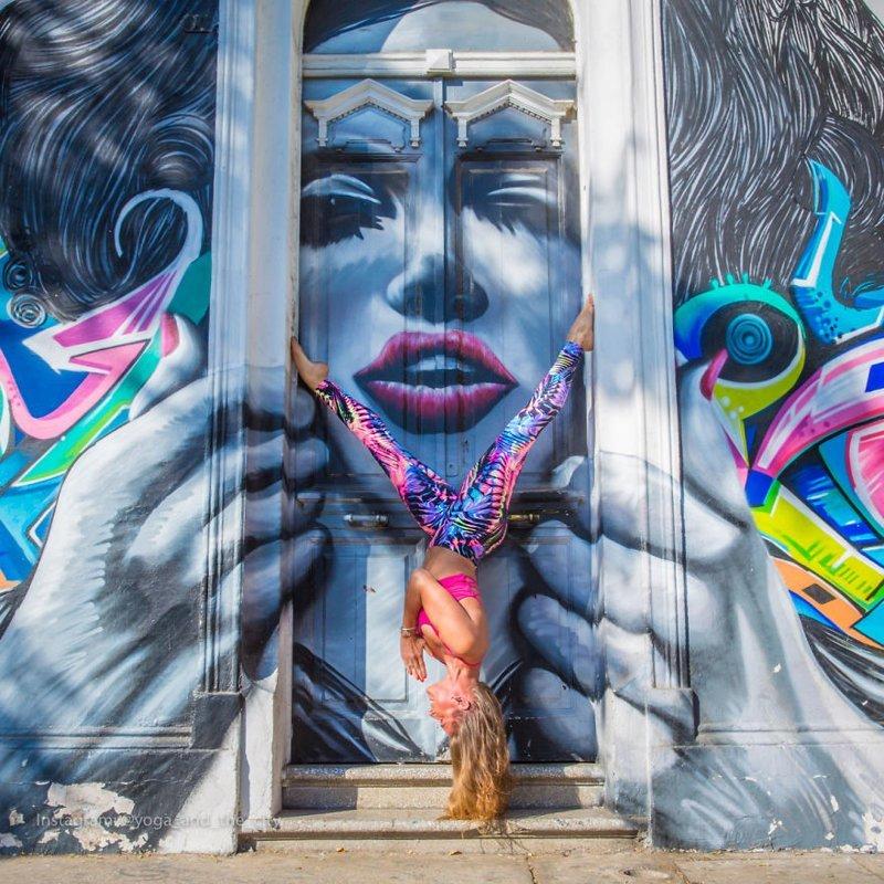 Фотограф объездил весь мир, снимая людей, практикующих йогу в мегаполисах