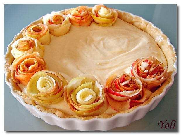 Красивый пирог из яблок рецепт с