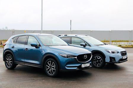 Тест Mazda CX-5 и Subaru XV: игра в пятнашки