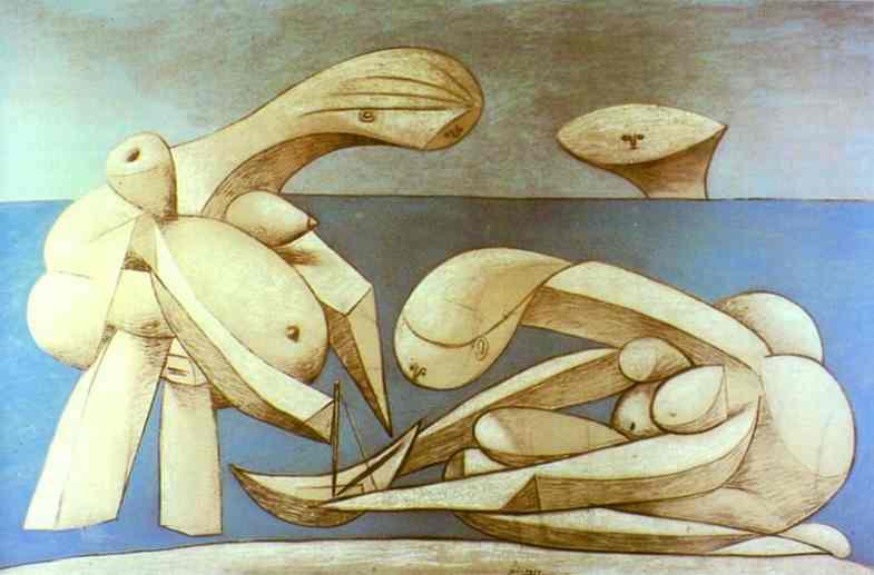 Пабло Пикассо. Купальщицы с игрушечной лодкой. 1937 год