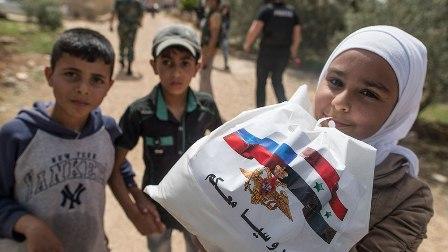 Российский Центр вСирии втечение суток провел 6 гуманитарных акций
