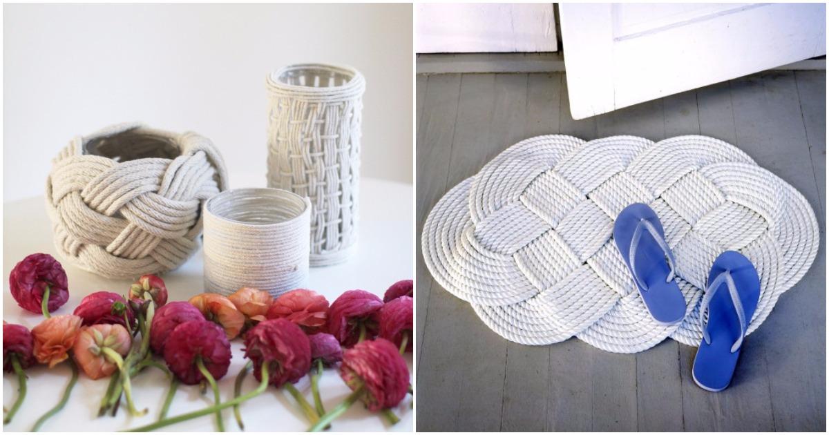 Чудесные переплетения: 18 идей декора из веревки для интерьера