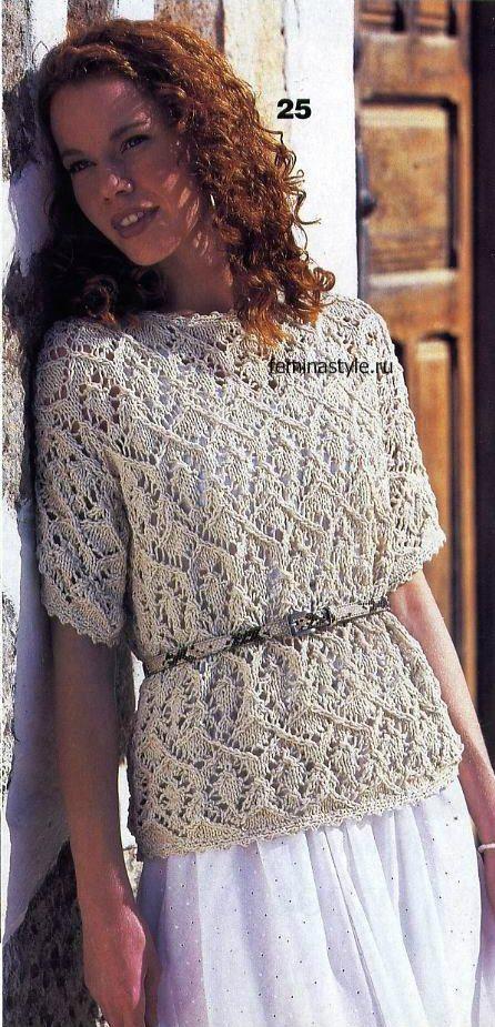 Лёгкие ажурное вязание