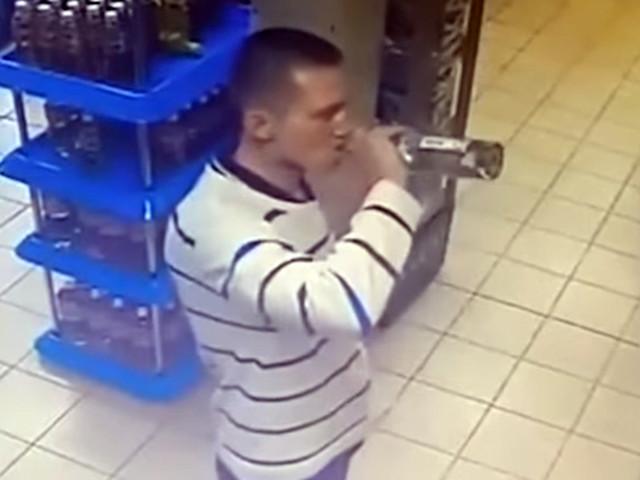 Житель Владивостока освоил скоростное поглощение водки у прилавка и перестал расплачиваться в магазинах