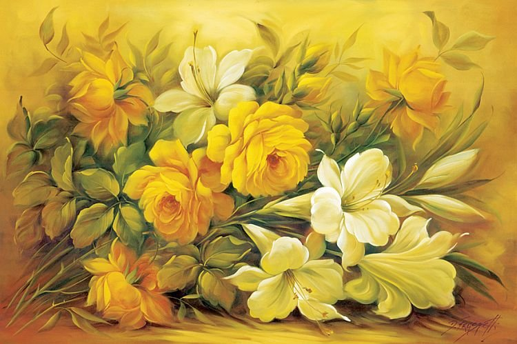 Цветочный натюрморты Douglas Frasquetti