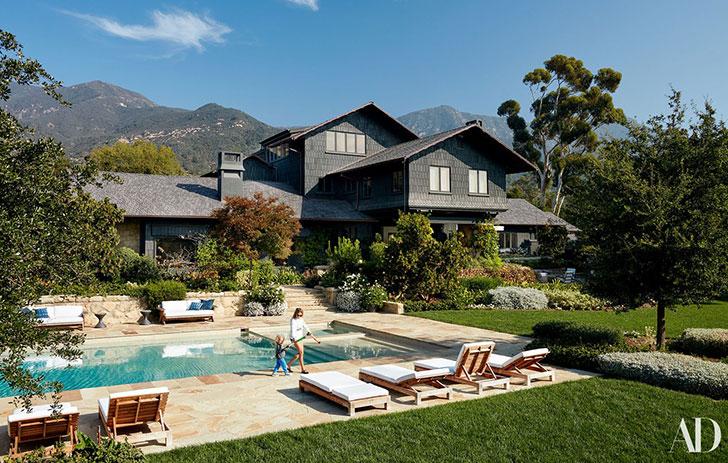 Идеальный семейный дом музыкального менеджера в Калифорнии