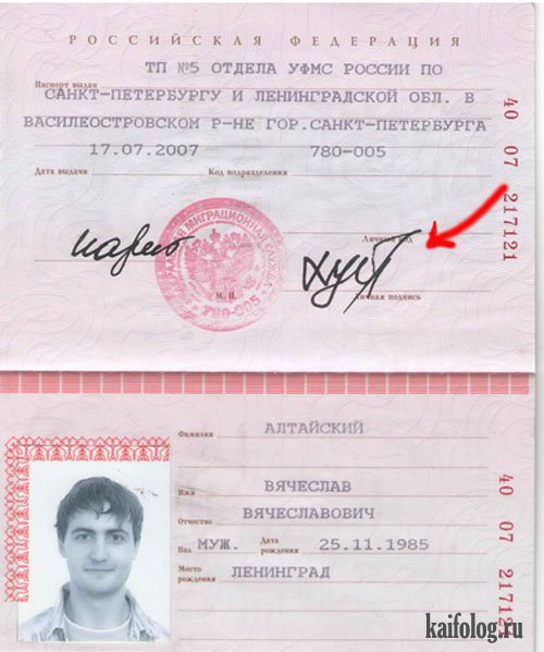 Генератор росписей для паспорта