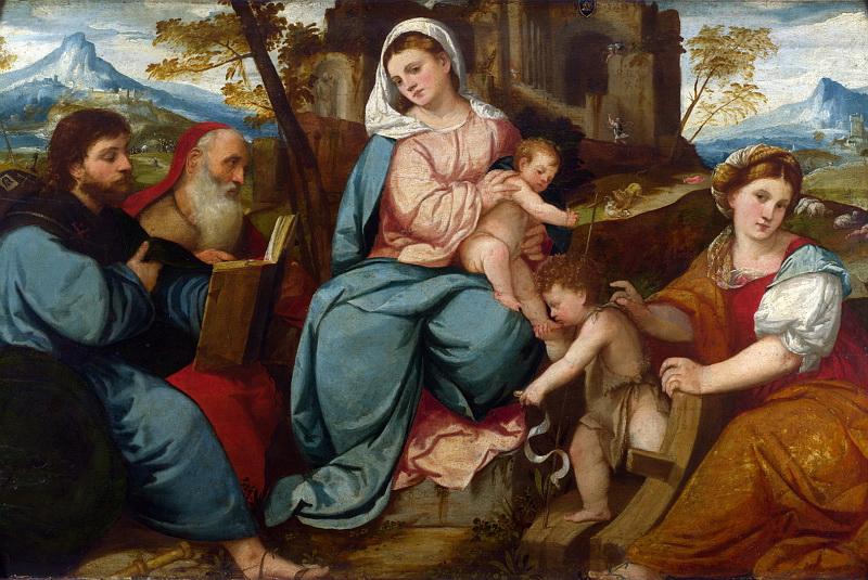 Бонифацио де Питати - Мадонна с Младенцем и святыми. Национальная галерея, Часть 1