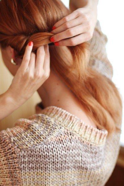 Простая симпатичная прическа. Сам себе парикмахер