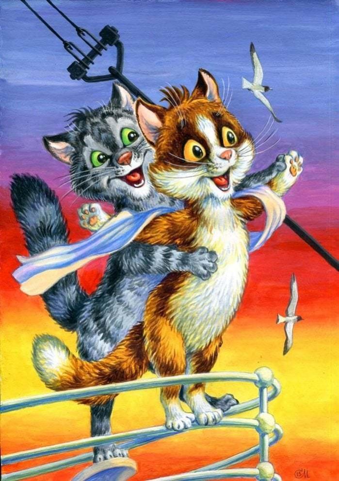Художник заменил героев кинофильмов котиками