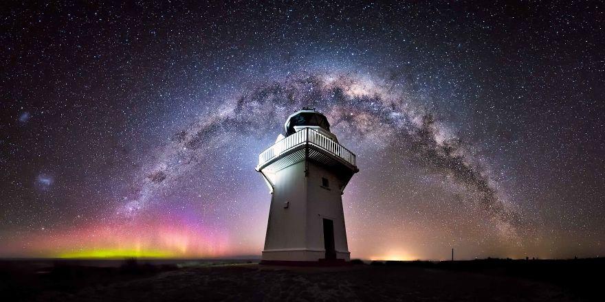 Невероятное звездное небо в Новой Зеландии