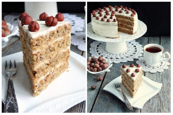Ореховая бомба — торт «Каргопольский». Превосходный ореховый торт со сметанным кремом