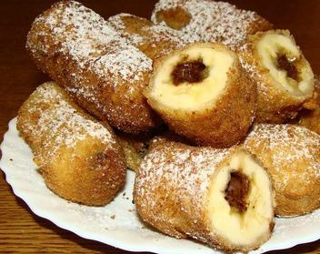 Хрустящие бананы с начинкой