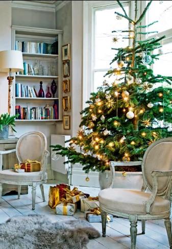 Просто полюбоваться и отдохнуть душой — новогоднее оформление дома в стиле кантри