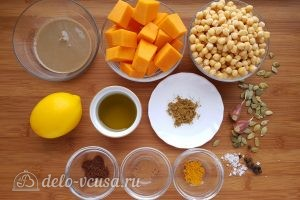 Хумус с тыквой: Ингредиенты