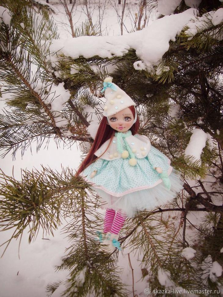 Создаем текстильную куклу «Юкико — ребенок снега»