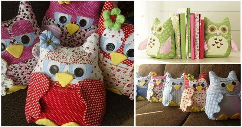 Очаровательные подушки-совы. Простая выкройка и фото-идеи