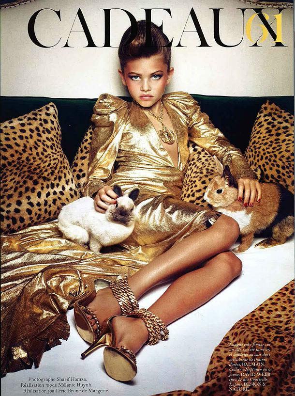 А вы согласитесь отдать свое чадо фотографироваться в мехах Versace и красн