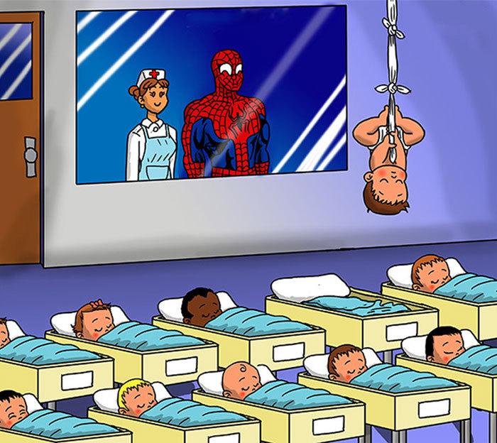 Как бы выглядели дети супергероев