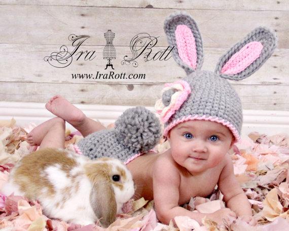 Вязать шапку новорожденному с ушками
