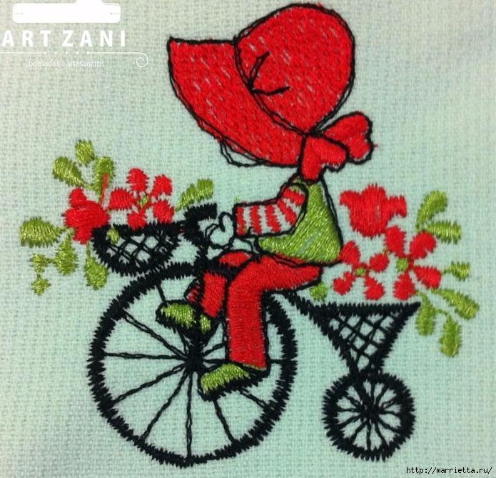 Вышиваем велосипед. Идеи со схемами (54) (695x669, 373Kb)