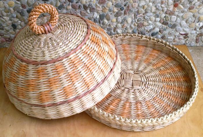 Пошаговое плетение из газетных трубочек фото