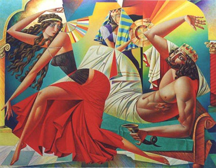 Соблазнительные формы кубизма: красочные картины Георгия Курасова