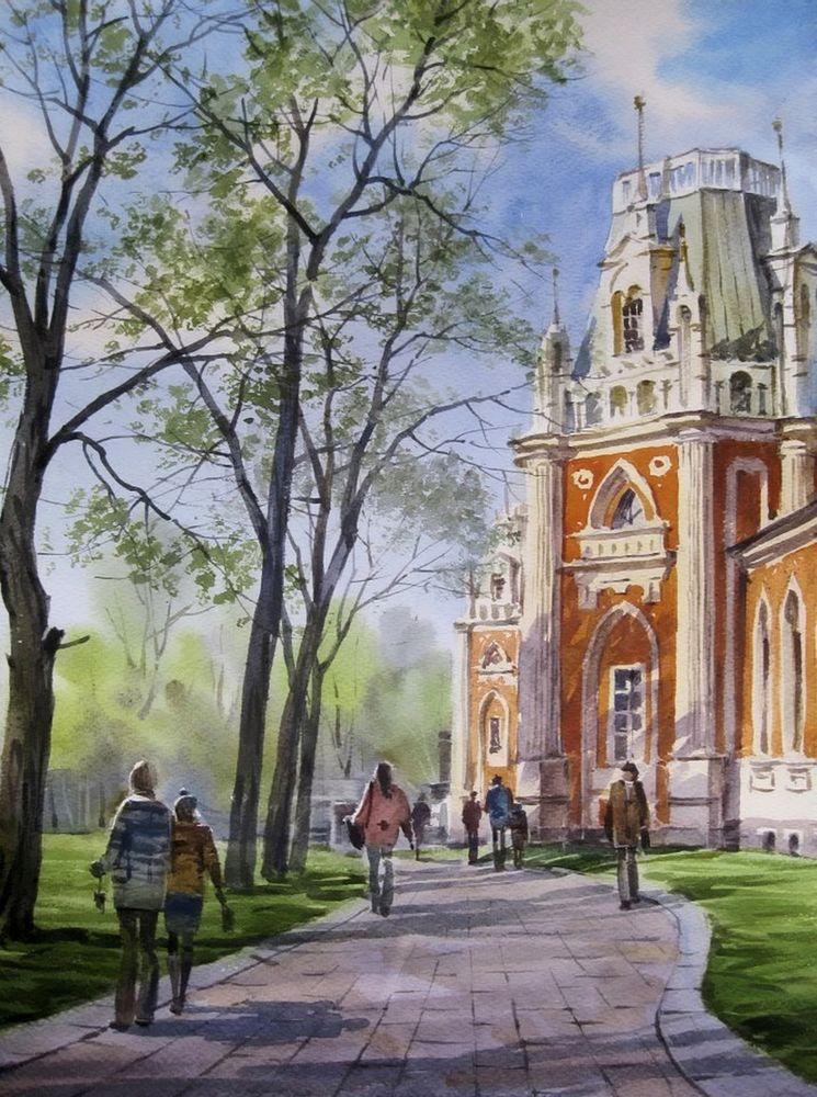 Акварельные пейзажи художника Ильи Горгоца, фото № 6
