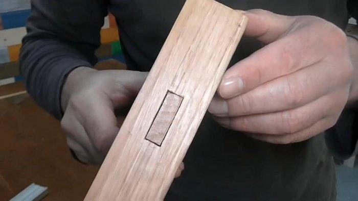 Изготовление гнезда под шип при помощи сверлильного станка
