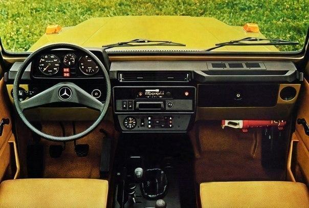 Эволюция интерьера Mercedes-Benz G-класс 1979-2013 г.