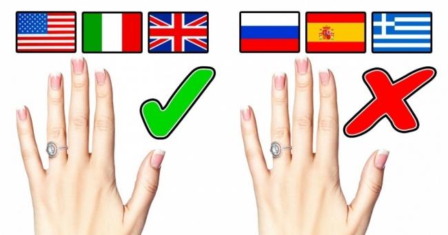 Почему в одних странах обручальные кольца носят на левой руке, а в других — на правой?