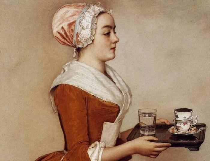 Жан-Этьен Лиотар. Шоколадница, 1745. Фрагмент | Фото: artchive.ru