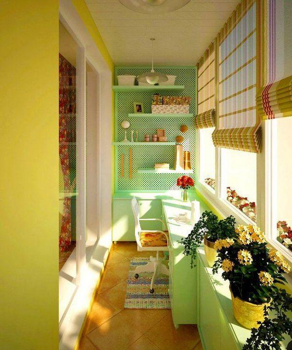 кухня на балконе в квартире студии красивая