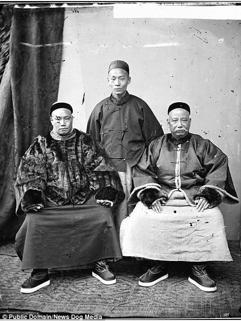 Купцы, 1869 год Цин, китай, фотография, эпоха