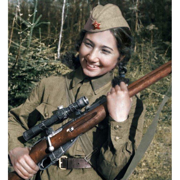 Зиба Ганиева — участник Великой Отечественной войны, радист, снайпер, разведчик