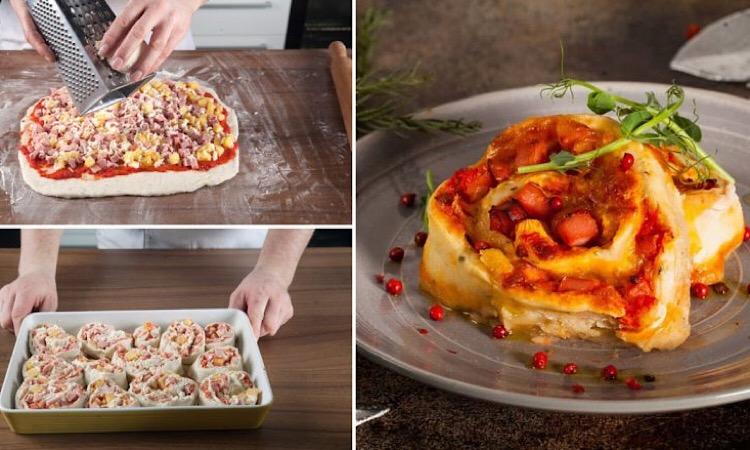 Вкуснейшие завитки с сыром и колбасой