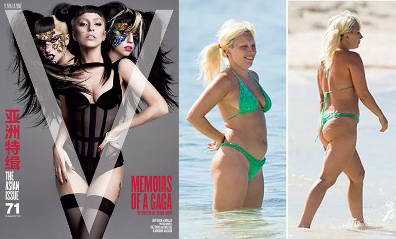 Леди Гага звезды, знаменитости, купальник, обложка, фигура