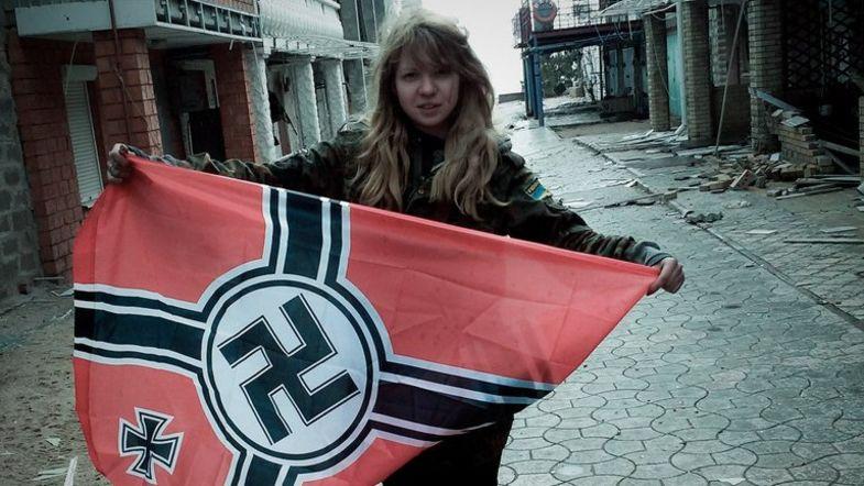 Неонацистку Заверуху «побратимы» избили после освобождения