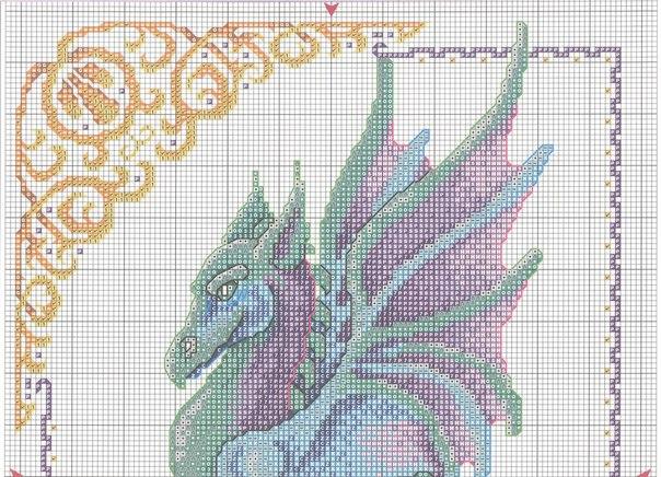 Драконы Схемы для вышивания